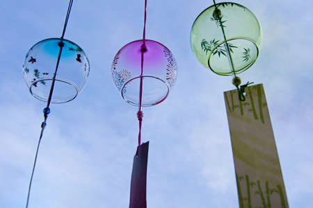 wind chimes: Summer sun and the cool sounds of wind chimes
