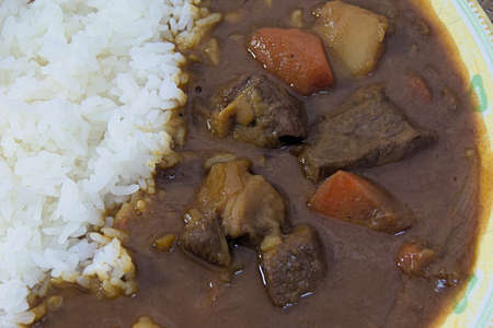 lou: Homemade beef curry diced beef that are made in Japan home