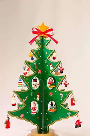 MOE Green cute wooden Christmas tree.