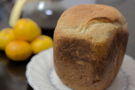 Breakfast of bread Stock Photo