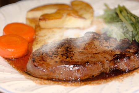 Freshly brewed steak Stock Photo