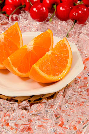 cut: Cut orange Stock Photo