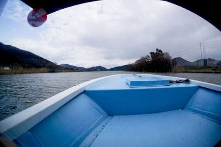 Nishinokos watercourse in the Omi region of Shiga prefecture in Japan Stock Photo