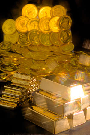 A large amount of gold