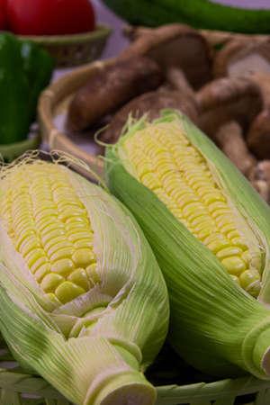 Closeup photo of Corn from Hokkaido Standard-Bild - 109977931
