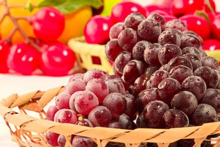 Closeup photo of Japanese grapes Standard-Bild