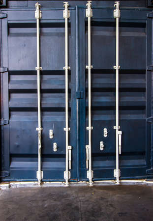 lift gate: cargo container box background Stock Photo
