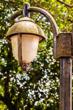 lamp post: Lamp post in the garden Stock Photo