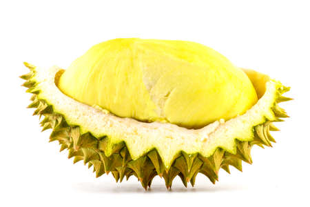 King of fruits, durian isolated on white background, durian is a smelly fruits
