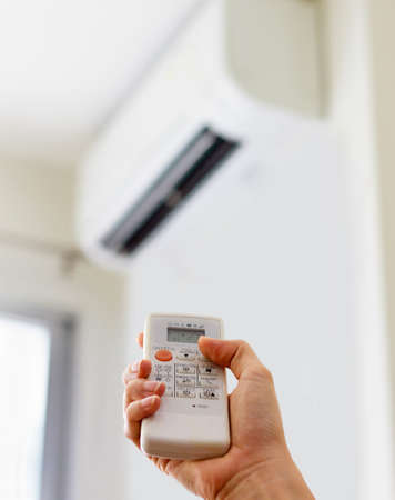 Air conditioner blowing cool