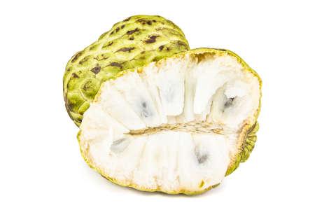 Fresh Custard Apple or Ripe Sugar Apple Fruit ( Annona, sweetsop) Stock Photo