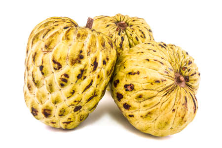 Fresh Custard Apple or Ripe Sugar Apple Fruit ( Annona, sweetsop) Stock Photo