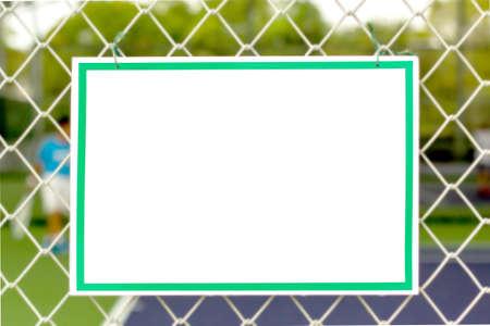 billboard court  sport tennis Stockfoto