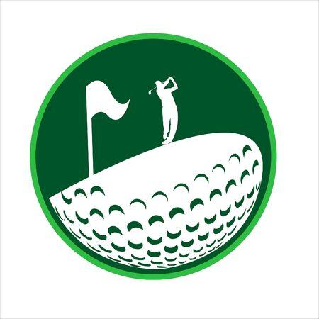Logo design vector Golf course. illustration
