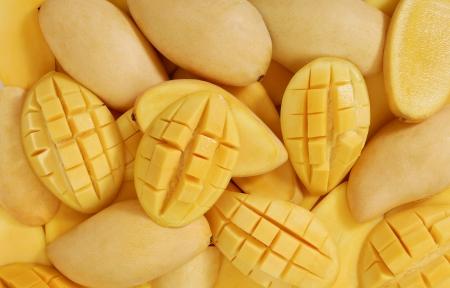 mango fruta: Los mangos de fondo Foto de archivo