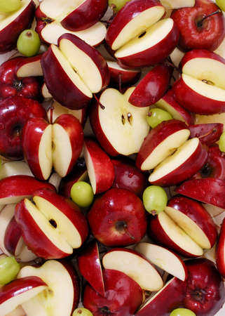 Red apples and green grapes