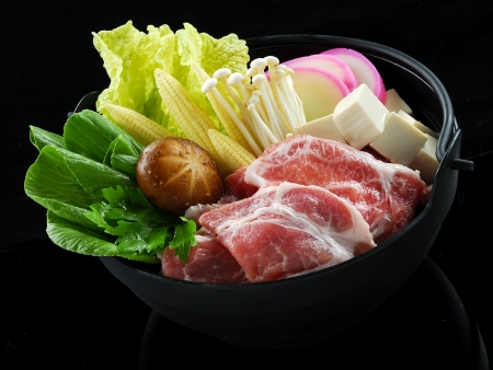 Beef Sukiyaki and mix vegetable