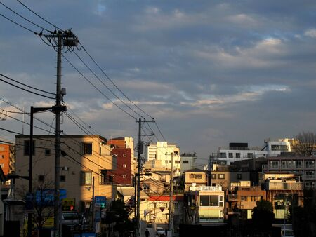 TOKYO,JAPAN - MARCH 24, 2012: A small town in Tokyo.
