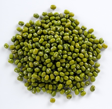 Mung beans isolated on a white background Stock Photo