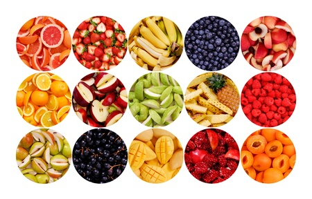Collection of fruits for backgrounds Stock Photo