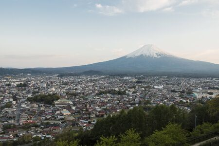 seaonal: Mt Fuji with city view