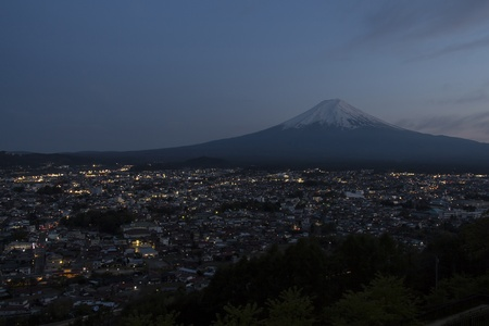 seaonal: Mt Fuji with city view in twilight