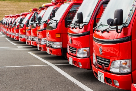 Kanagawa, Japan - January 5  Rescue Cars in the New Year Editorial