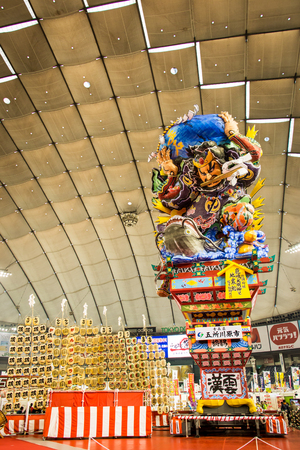 Tokyo, Japan - January 19, 2013  Giant Lantern float for Nebuta Festival shows in Japanese Rural Festivals at Tokyo Dome