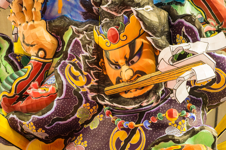 Tokyo, Japan - January 19, 2013  Lantern float for Nebuta Festival shows in Japanese Rural Festivals at Tokyo Dome