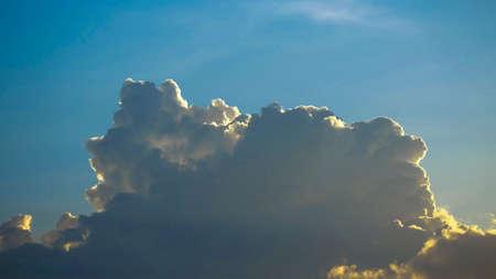 Beautiful sky clouds in morning.