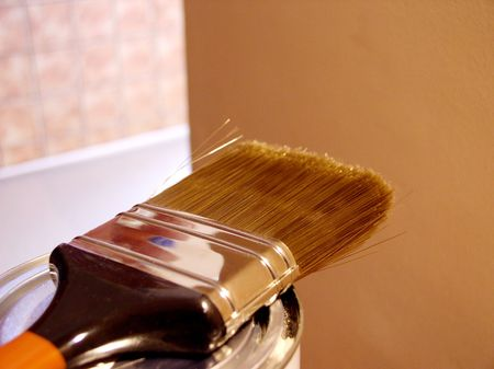 gold cans: Paintbrush - redecoration