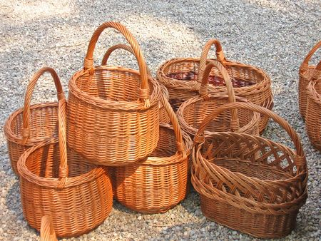 poorness: Couple of baskets  Stock Photo