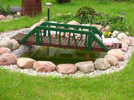 Little bridge in the garden Stock Photo - 410496