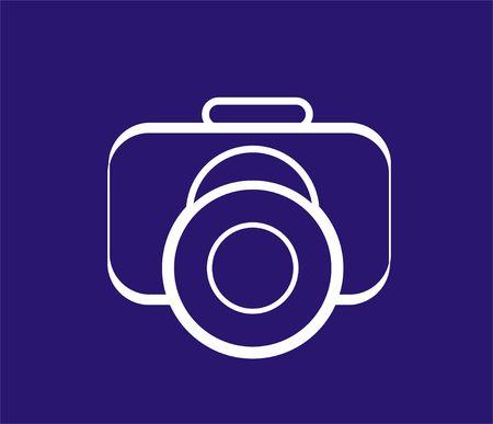 c�mara - s�mbolo de la fotograf�a Foto de archivo - 424691