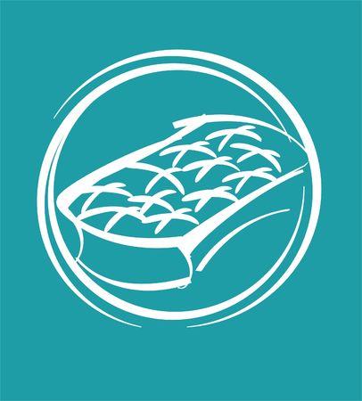 mattress: symbol of mattress Stock Photo