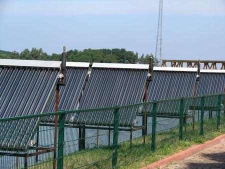 photocell: Solar cell panels Stock Photo