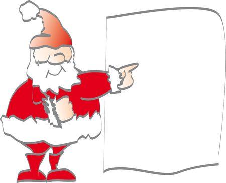 promotes: Pap� Noel promueve - su mensaje aqu� Foto de archivo
