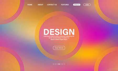 Asbtract Fluid background design. Landing page template.