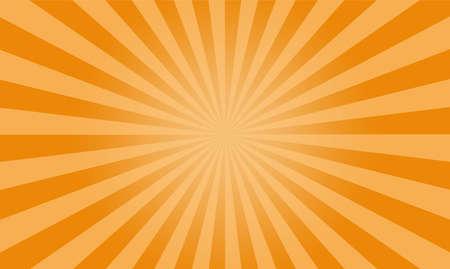 Fond de vecteur jaune Sunburst, toile de fond plat texture soleil.
