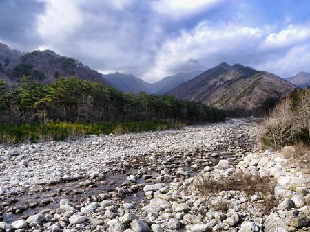 Beautiful mountain river. Soeraksan, South Korea