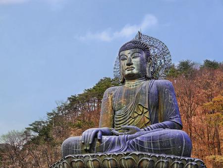 Big Buddha statue at Seoraksan National Park. South Korea