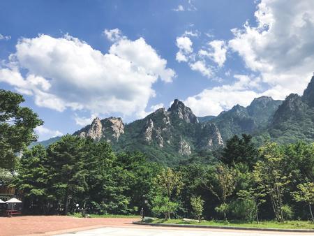 Beautiful mountains in Seoraksan National Park. Summer. South Korea Stock Photo