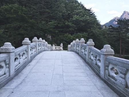 The stone bridge in Seoraksan National Park. South Korea Stock Photo