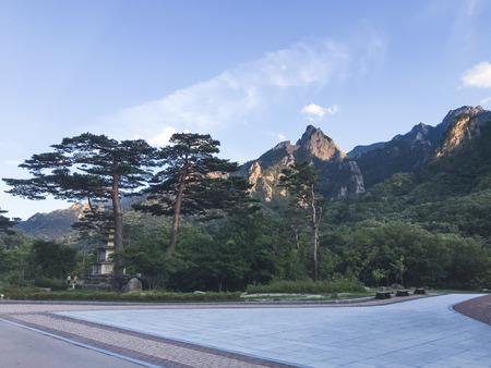 View to beautiful mountains in Seoraksan National Park. Summer. South Korea Stock Photo