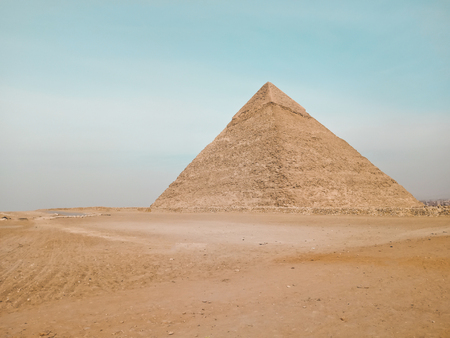 A view of the the Great Pyramid at Giza, Egypt