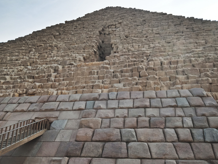 The Great Pyramid at Giza, Bottom view Egypt