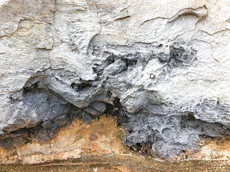 Solidified lava in Jeju island. South Korea. Close-up