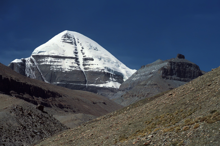 The South Face of Sacred Mount Kailash in Western Tibet.