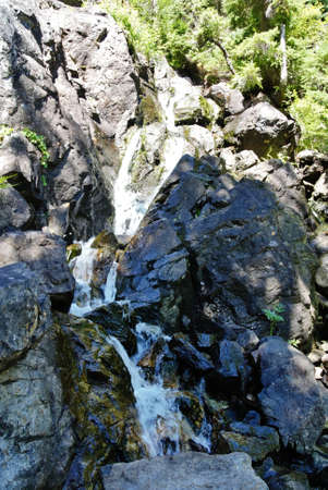 waterfall down granite canyon