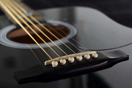 musique: Chevalet de guitare acoustique Stock Photo